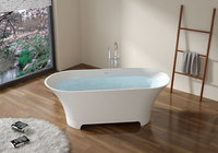 Ванна из искусственного камня Aquanet Bloom Ellipse TC-S92 165x75, матовая