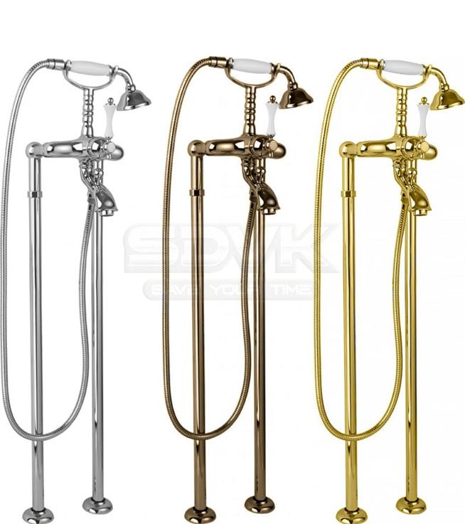 Смесители напольные для ванной бронза