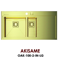 Кухонная мойка Omoikiri Akisame 78-GM-R OAK-100-2-IN-LG