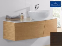 Фото Мебель для ванной Villeroy Boch Aveo New Generation  130 dark oak (тумба, раковина, зеркало) 2