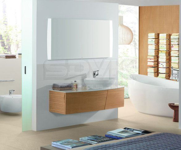 Фото Мебель для ванной Villeroy Boch Aveo New Generation 130 pure oak (тумба, раковина, зеркало)
